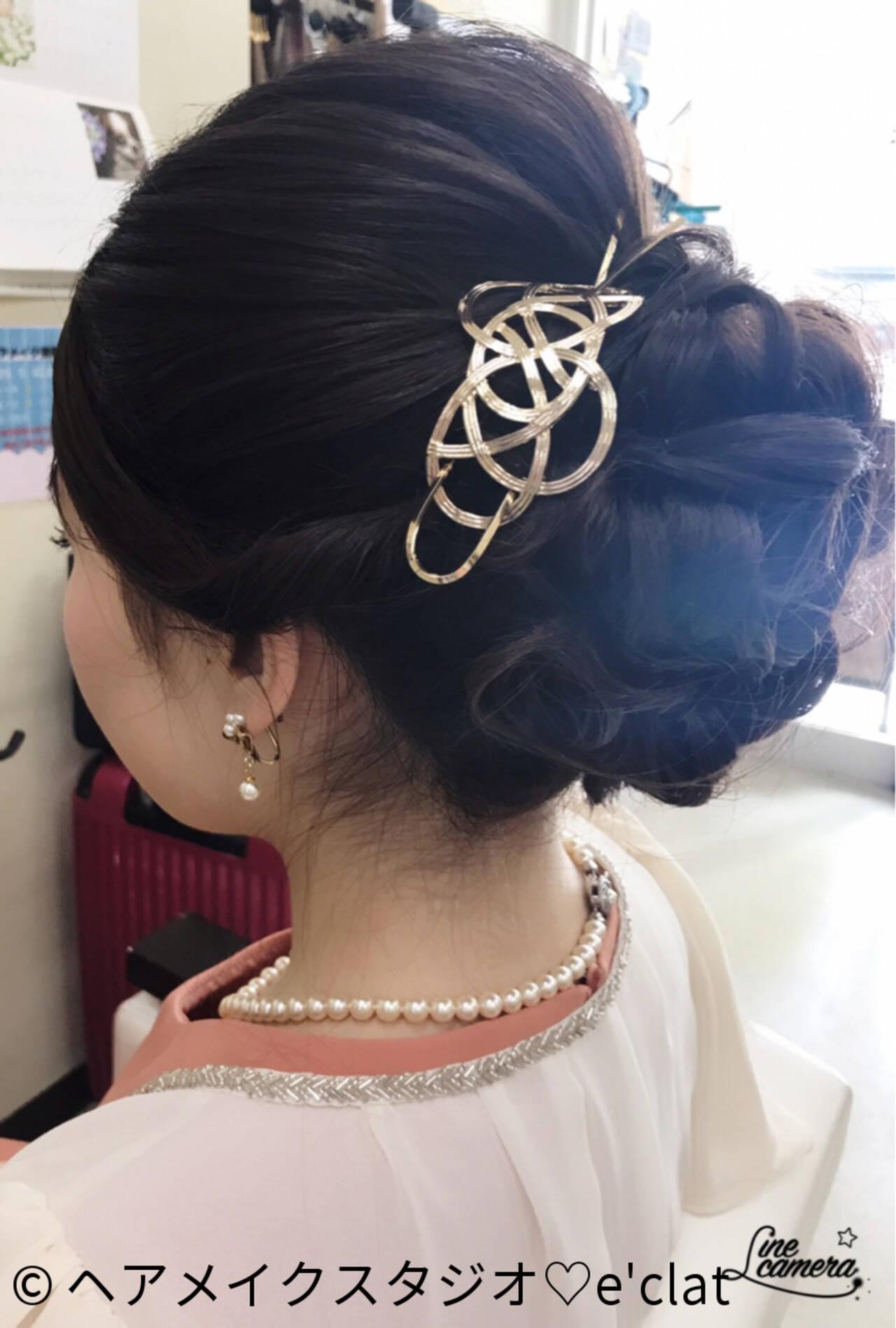 シニヨン 大人女子 抜け感 ヘアアレンジヘアスタイルや髪型の写真・画像