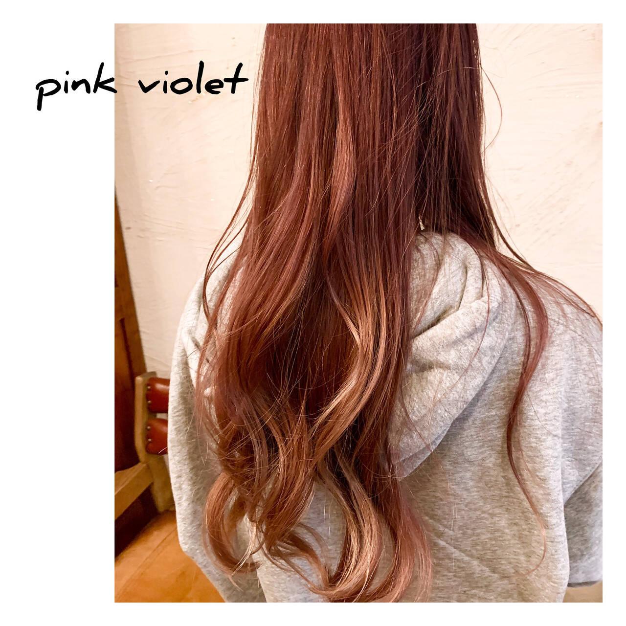ブリーチカラー ダブルカラー ストリート ロングヘアスタイルや髪型の写真・画像