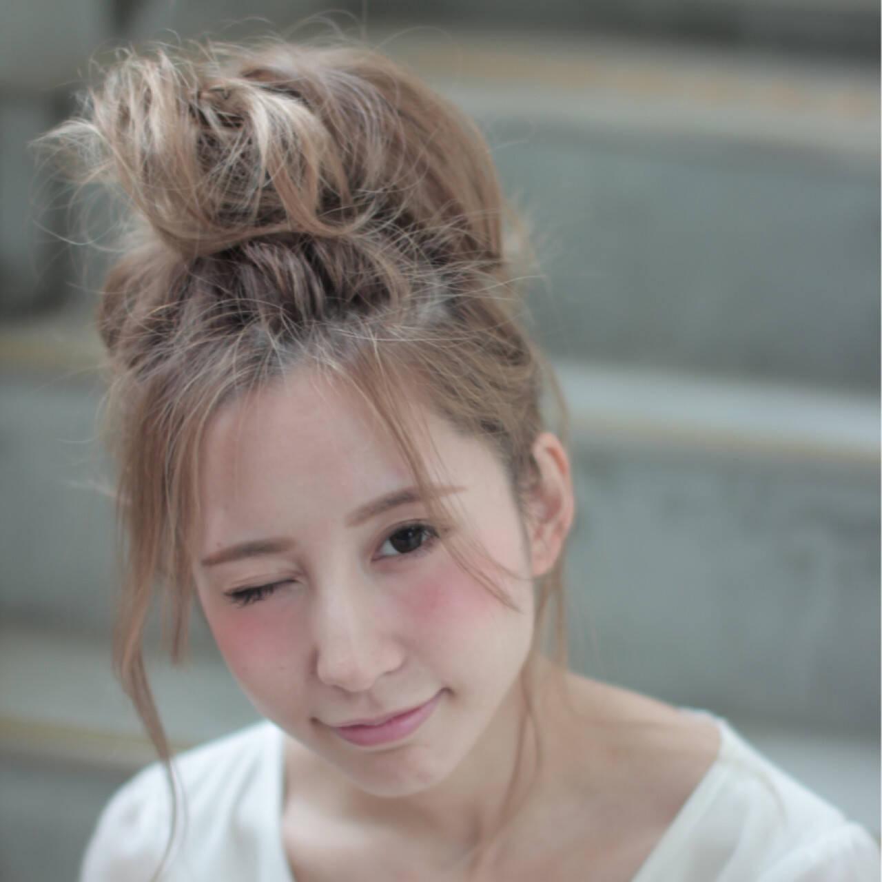 夏 ヘアアレンジ ピュア 外国人風ヘアスタイルや髪型の写真・画像