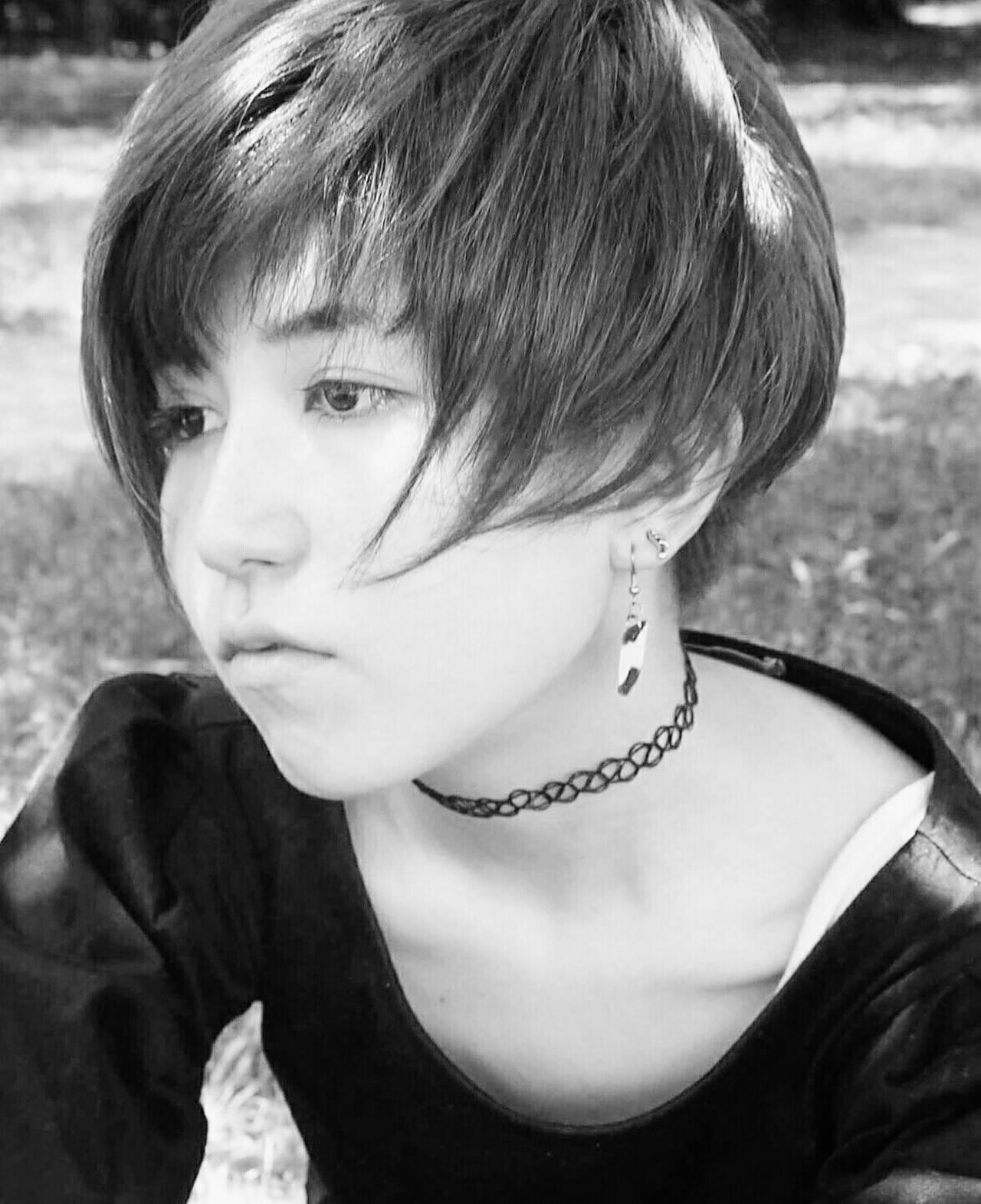 モード ベリーショート 坊主 ショートヘアスタイルや髪型の写真・画像