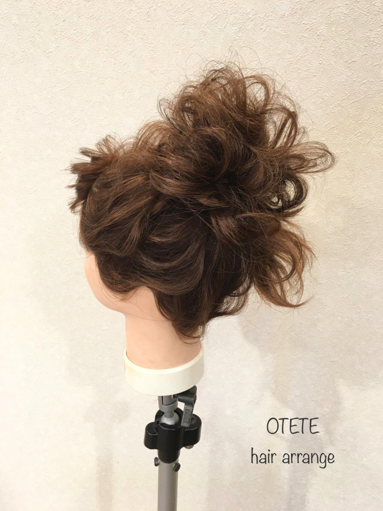 結婚式 セミロング ガーリー デートヘアスタイルや髪型の写真・画像