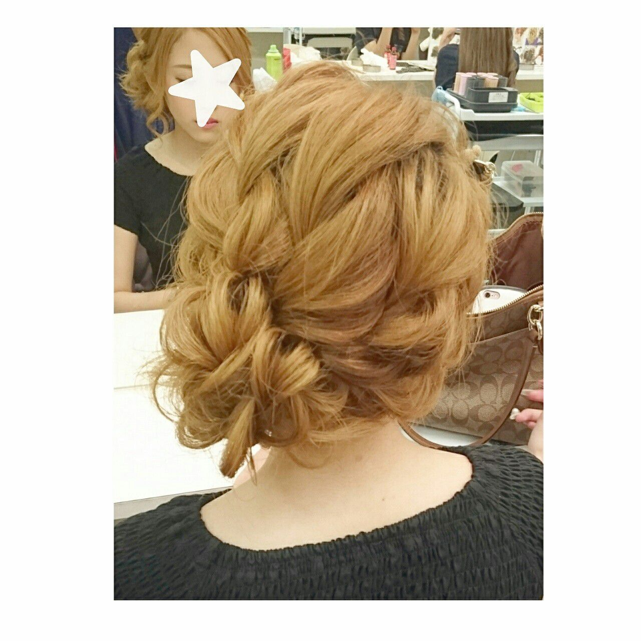 セミロング ヘアアレンジ 夏 色気ヘアスタイルや髪型の写真・画像