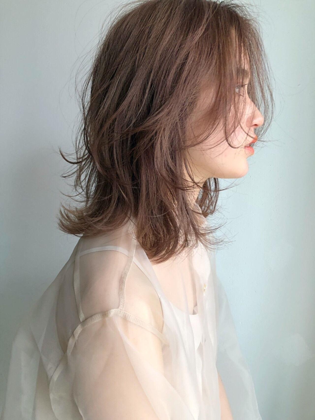 簡単ヘアアレンジ ミディアム デート オフィスヘアスタイルや髪型の写真・画像
