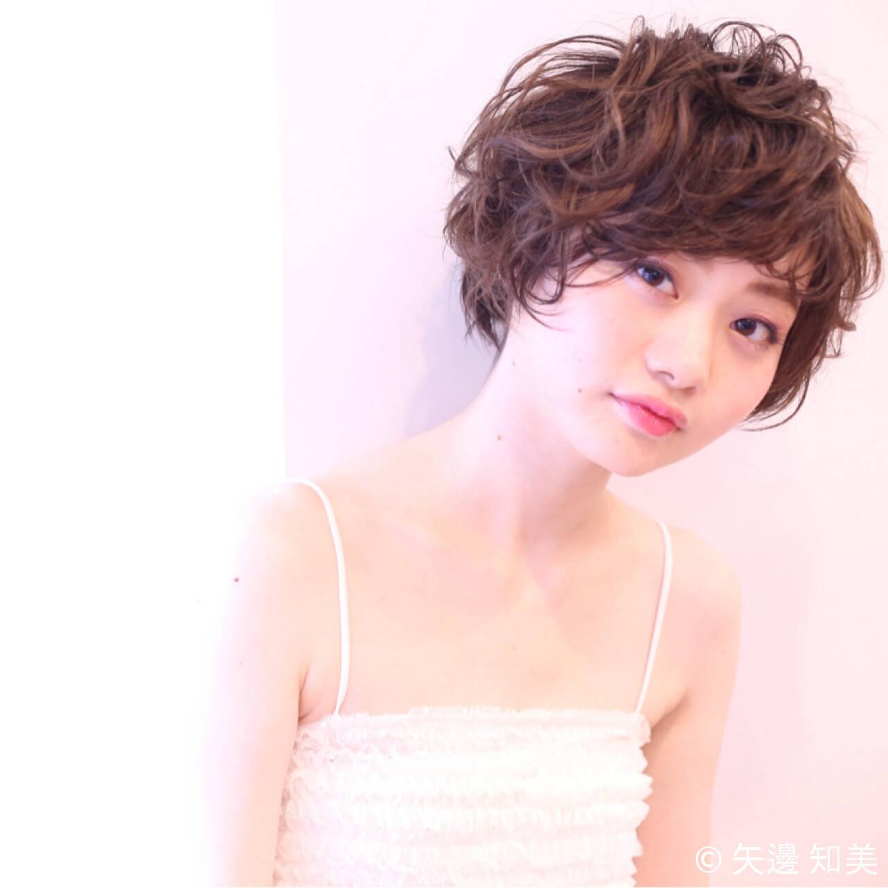 かわいい パーマ ガーリー ゆるふわヘアスタイルや髪型の写真・画像