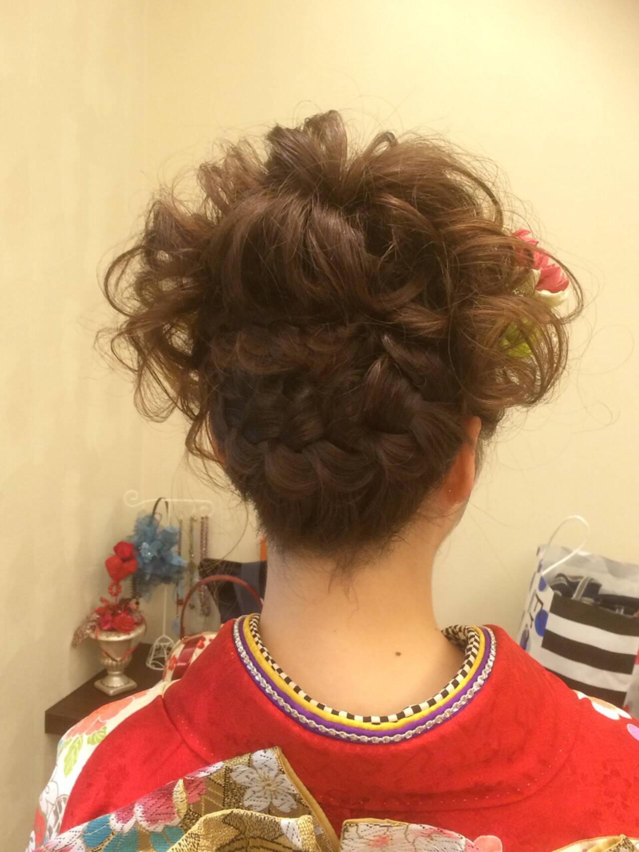 まとめ髪 ヘアアレンジ 成人式 結婚式ヘアスタイルや髪型の写真・画像