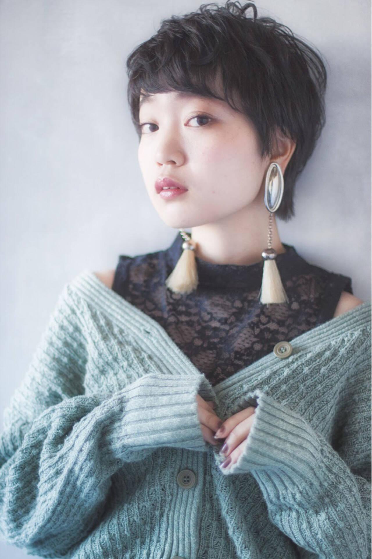 外国人風 モード 小顔 大人女子ヘアスタイルや髪型の写真・画像