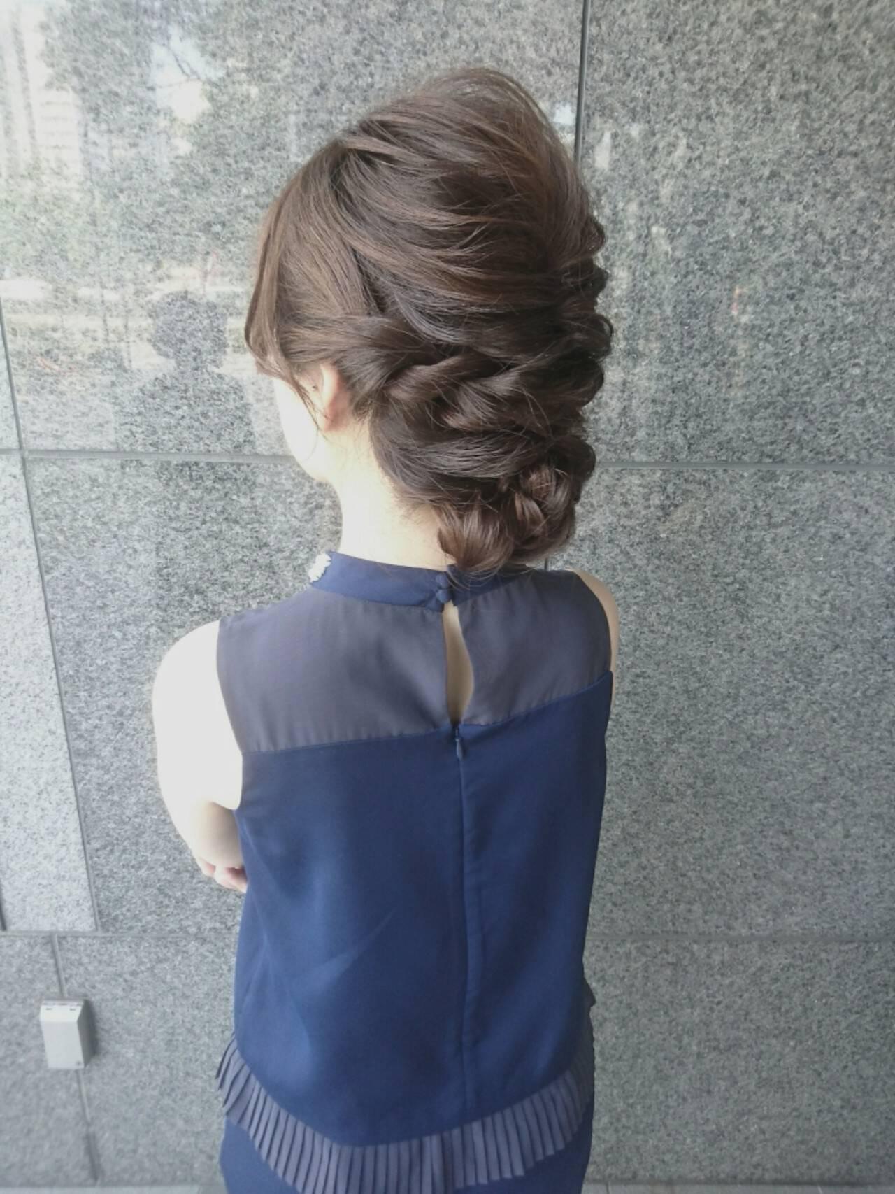 ヘアアレンジ ハーフアップ ナチュラル 簡単ヘアアレンジヘアスタイルや髪型の写真・画像