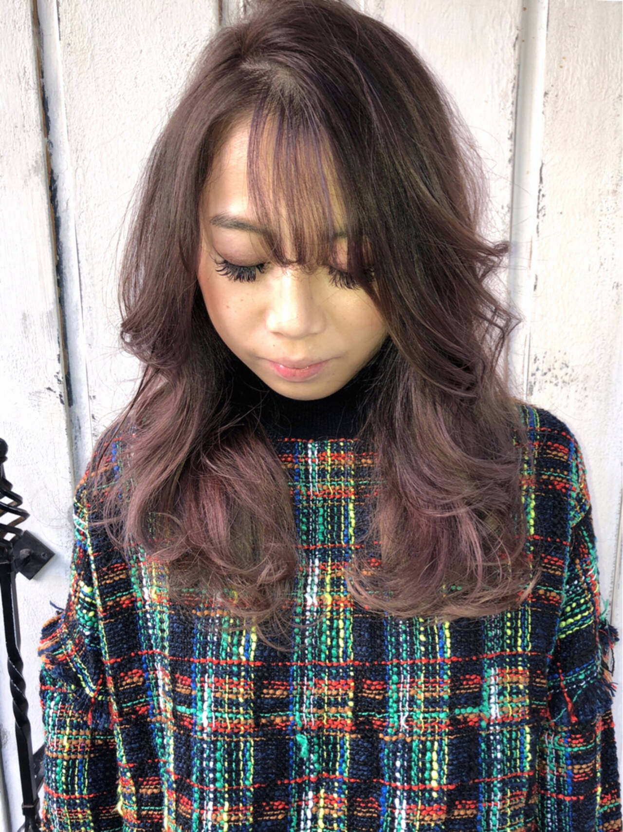 モード 斜め前髪 2wayバング シースルーバングヘアスタイルや髪型の写真・画像