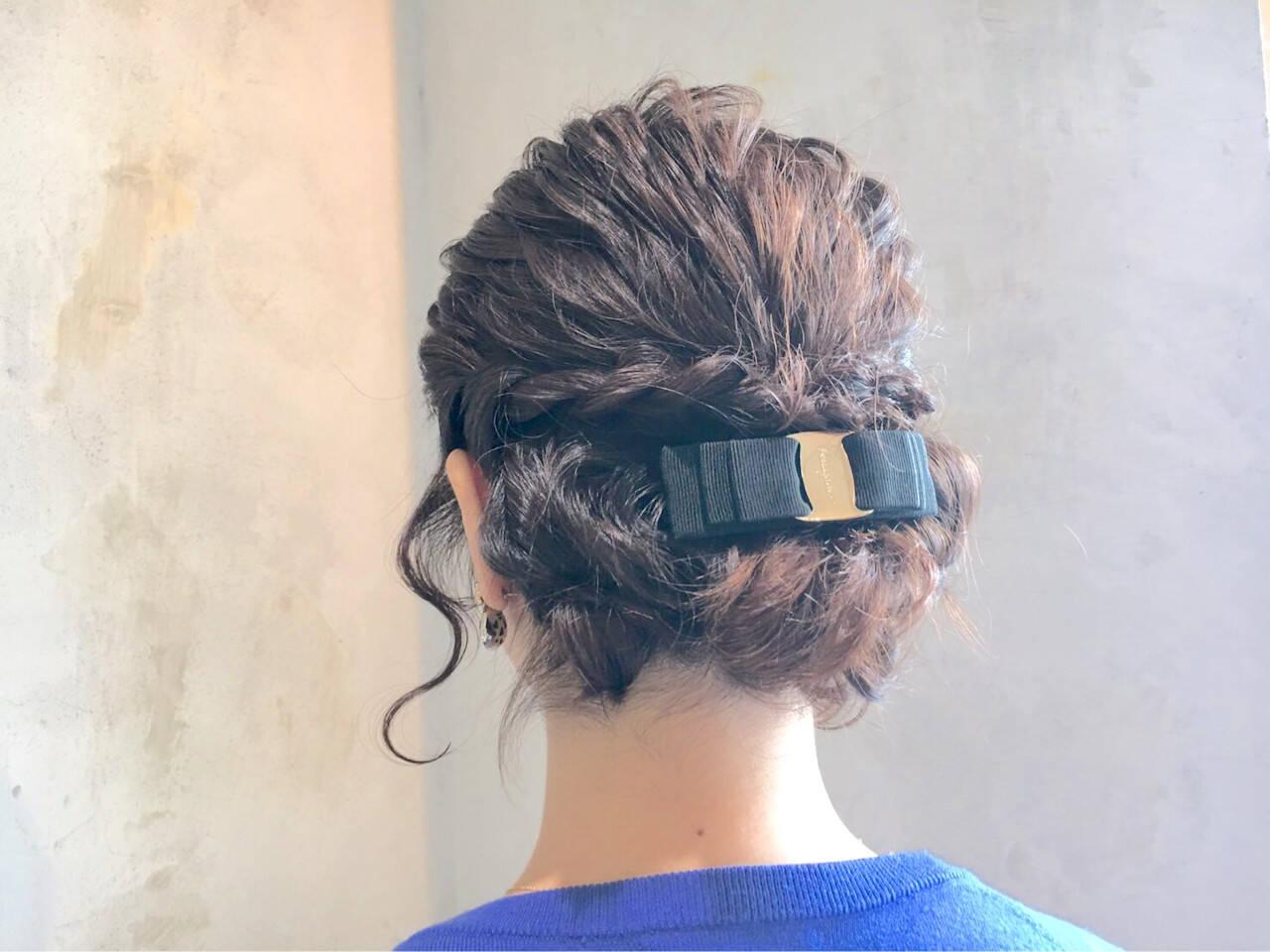 フェミニン ボブ ヘアアレンジ パーティヘアスタイルや髪型の写真・画像