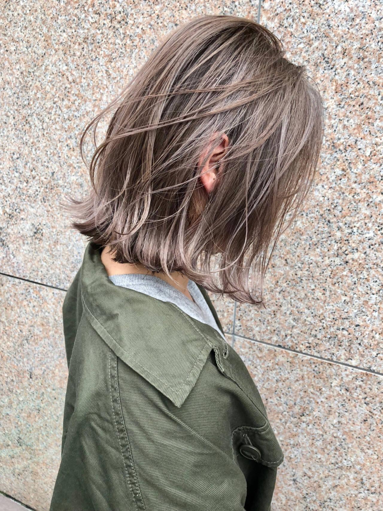 ハイライト ゆるふわ ストリート アンニュイヘアスタイルや髪型の写真・画像