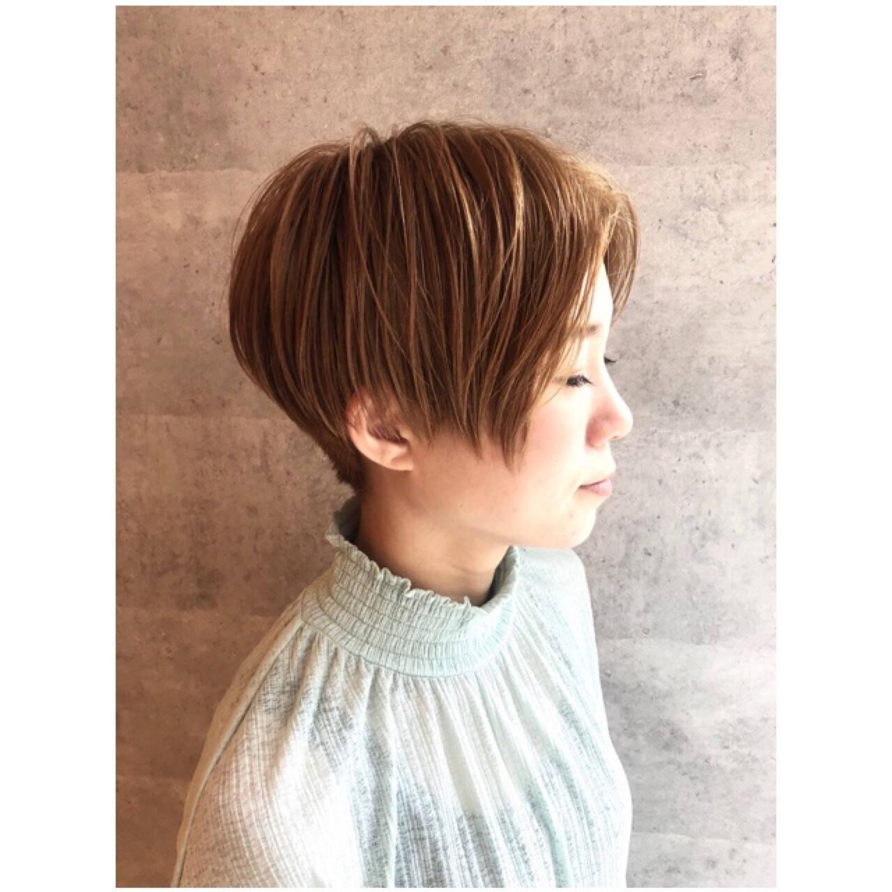 ベリーショート 小顔 マッシュ 似合わせヘアスタイルや髪型の写真・画像