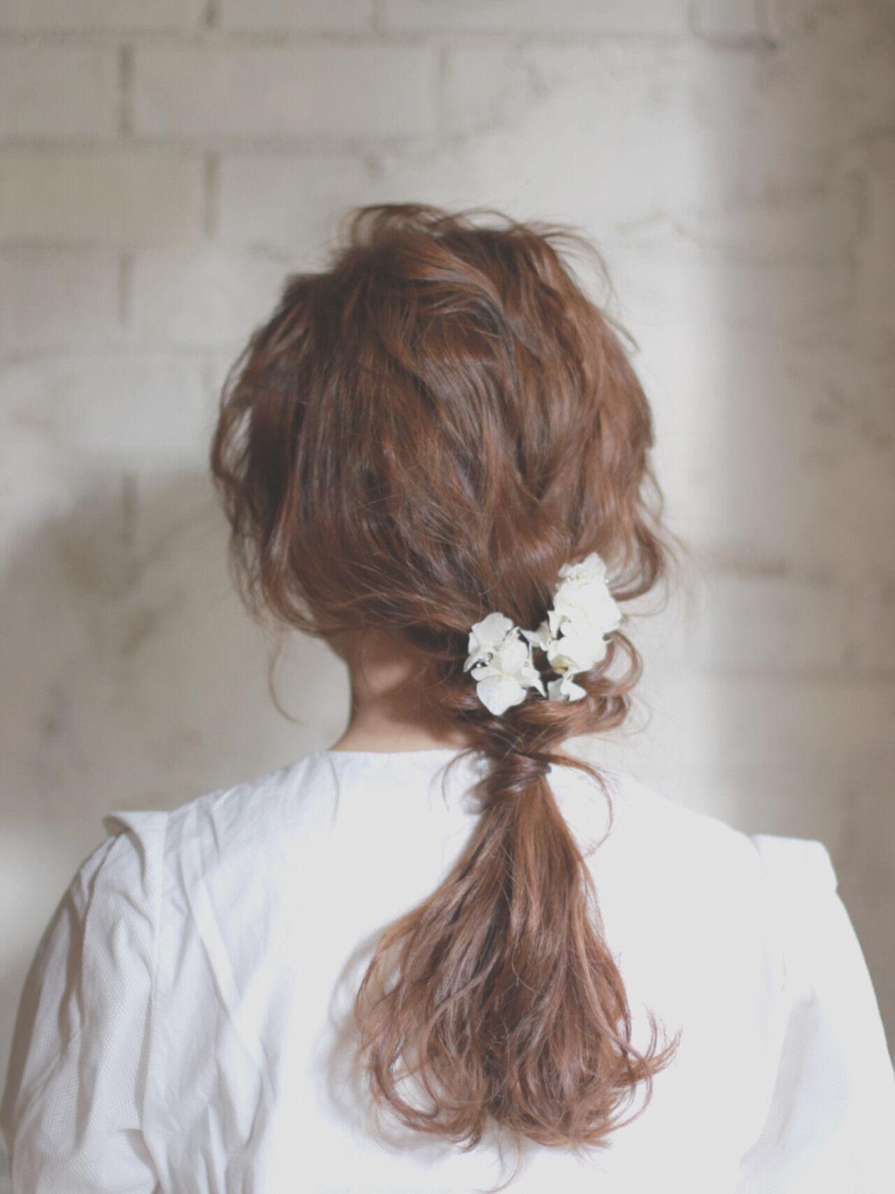 フェミニン ショート ゆるふわ 結婚式ヘアスタイルや髪型の写真・画像
