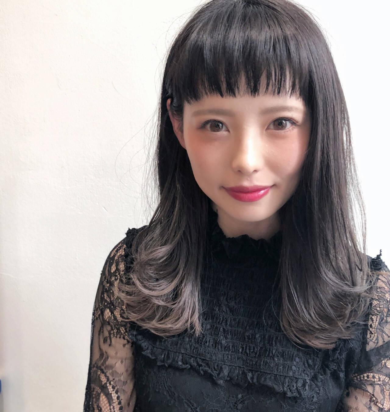 透明感 モード ハイライト ハイトーンヘアスタイルや髪型の写真・画像