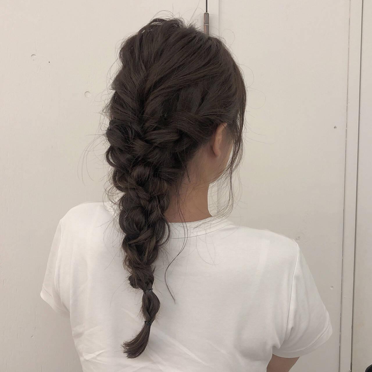 ナチュラル ヘアアレンジ ロング ふわふわヘアアレンジヘアスタイルや髪型の写真・画像
