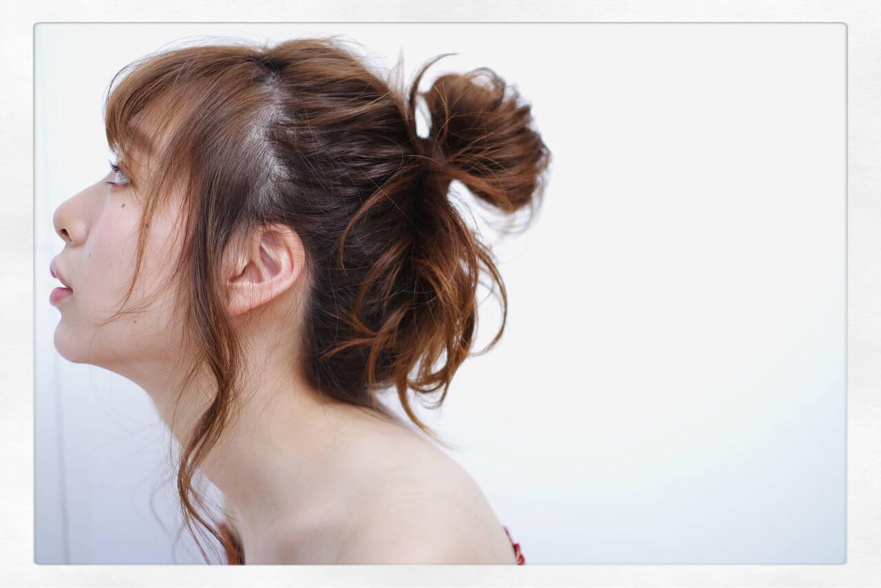 ヘアアレンジ 大人かわいい 簡単ヘアアレンジ 愛されヘアスタイルや髪型の写真・画像