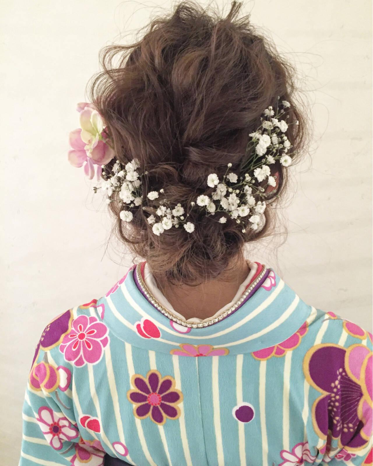 ヘアアレンジ ミディアム 外国人風ヘアスタイルや髪型の写真・画像