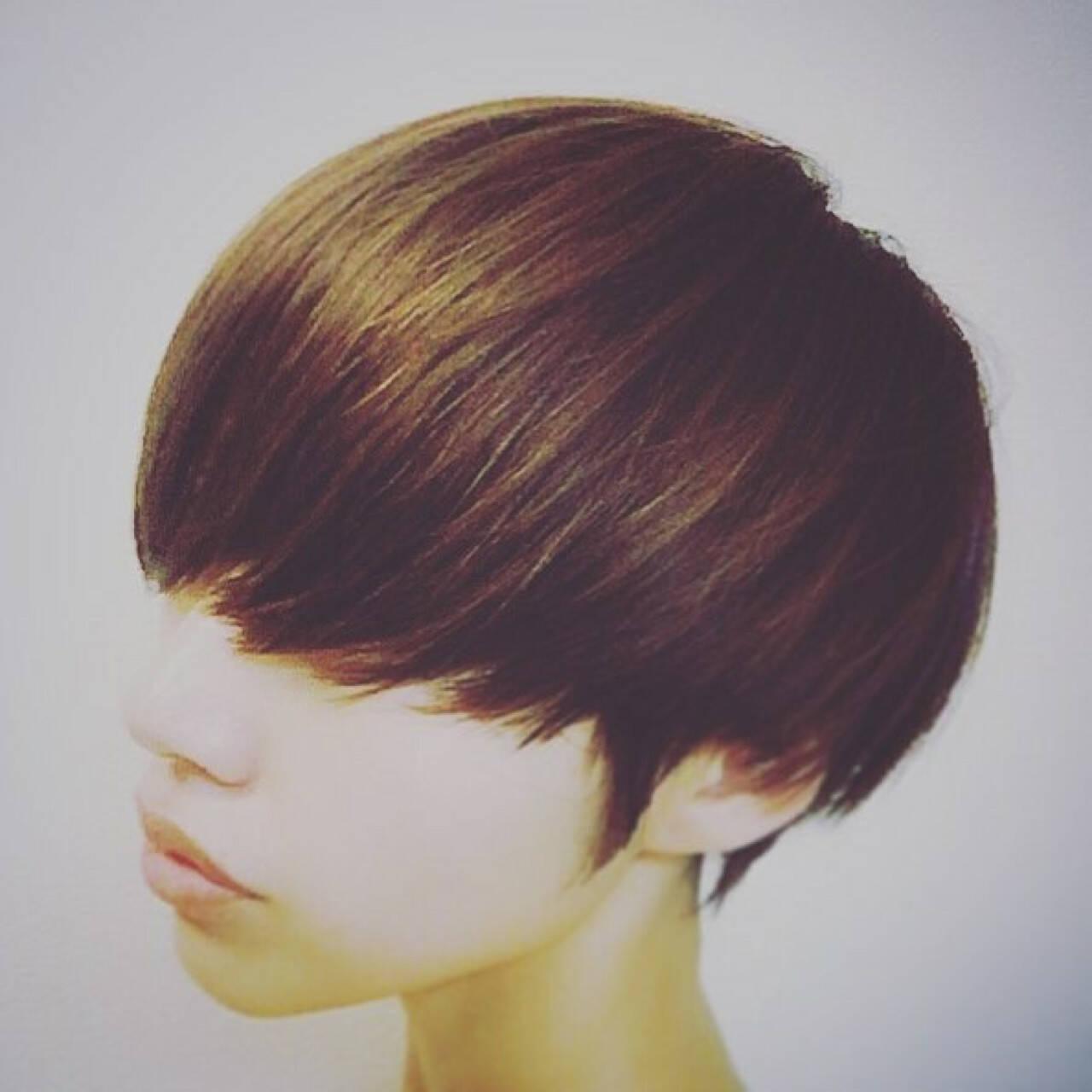 グラデーションカラー マッシュ かっこいい 小顔ヘアスタイルや髪型の写真・画像