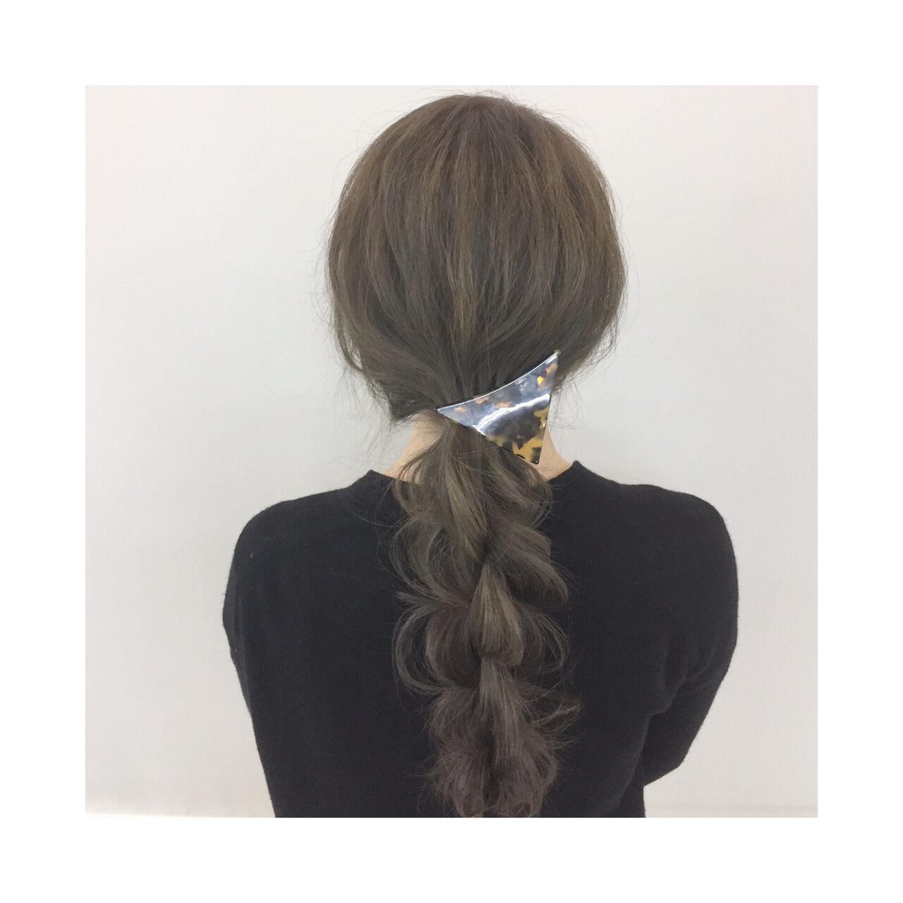 簡単 ロング 簡単ヘアアレンジ 大人かわいいヘアスタイルや髪型の写真・画像