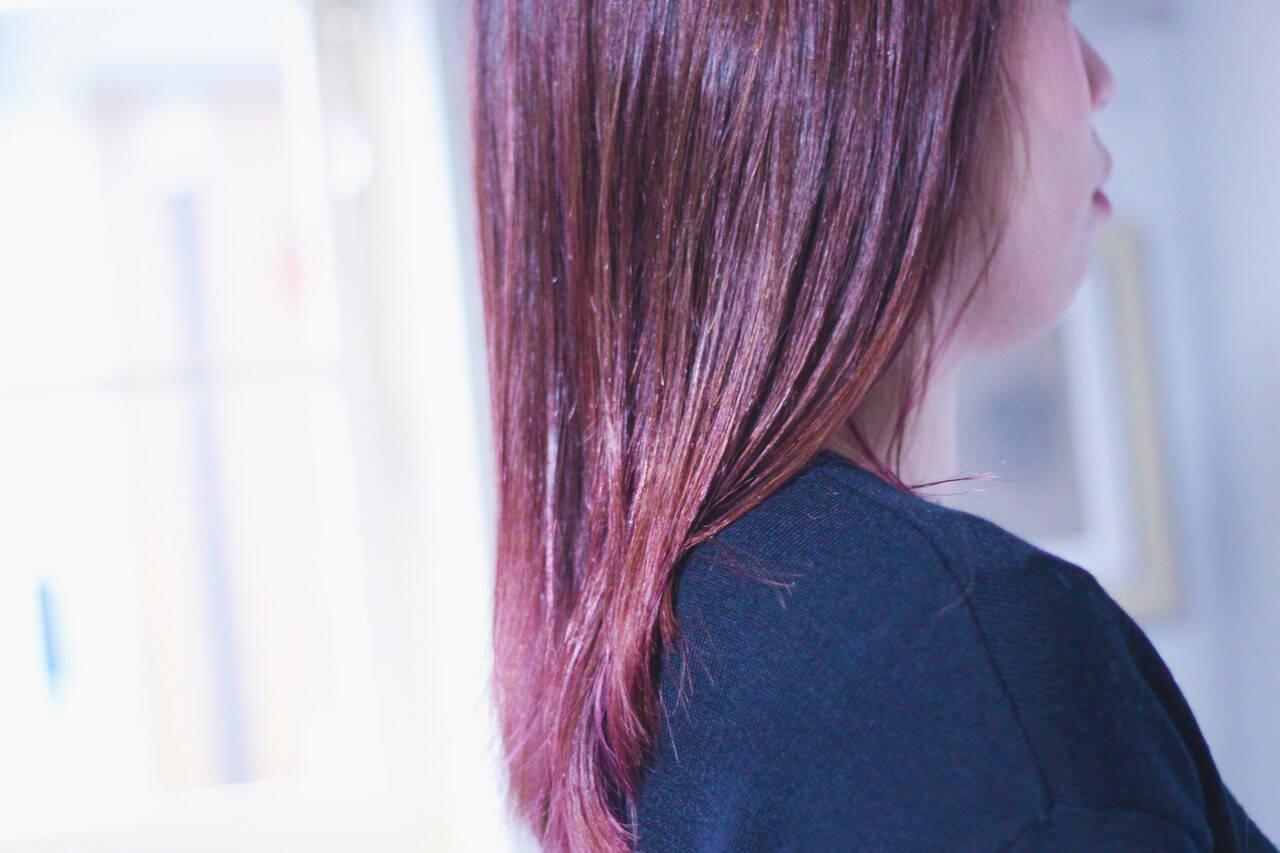 ピンクベージュ ナチュラル ベリーピンク ピンクアッシュヘアスタイルや髪型の写真・画像