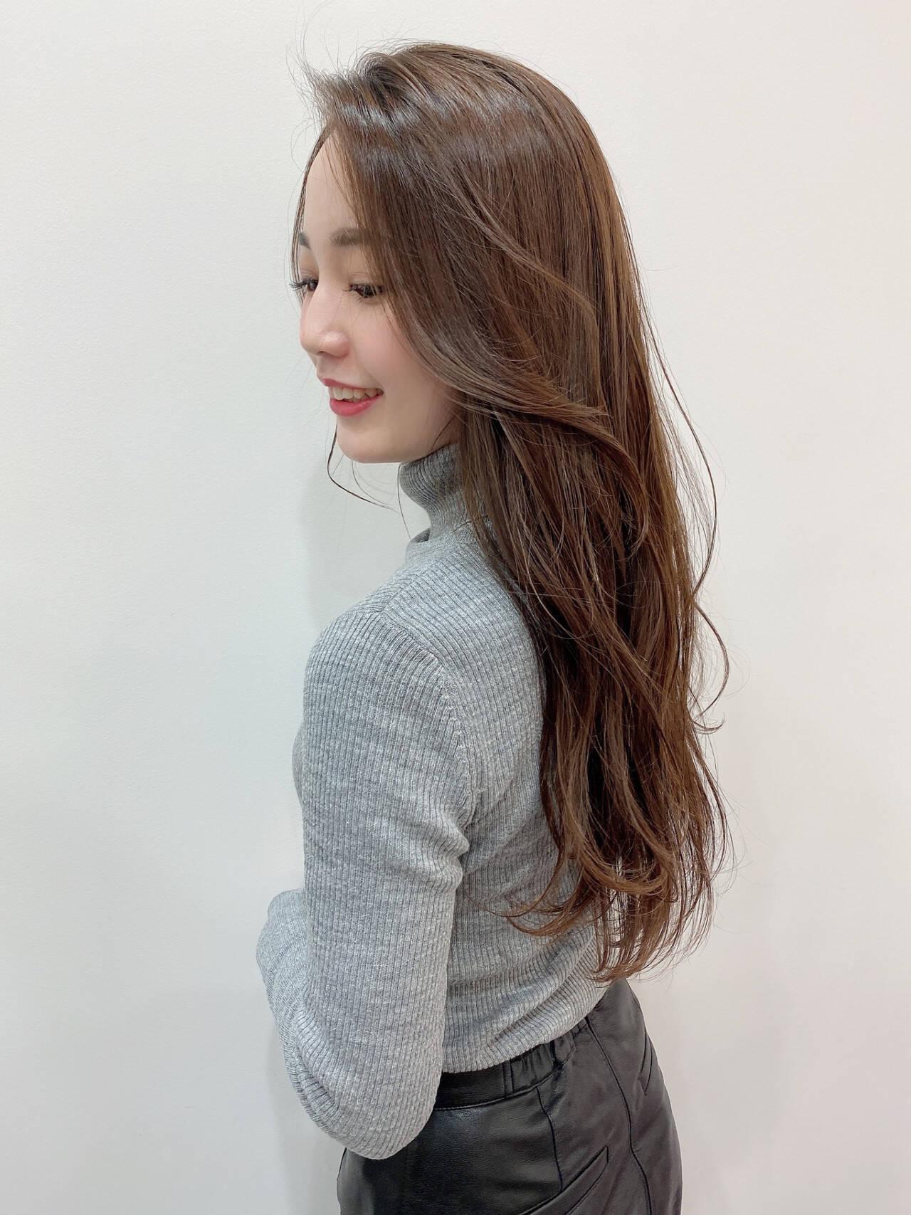 波巻き ロング 艶カラー 可愛いヘアスタイルや髪型の写真・画像