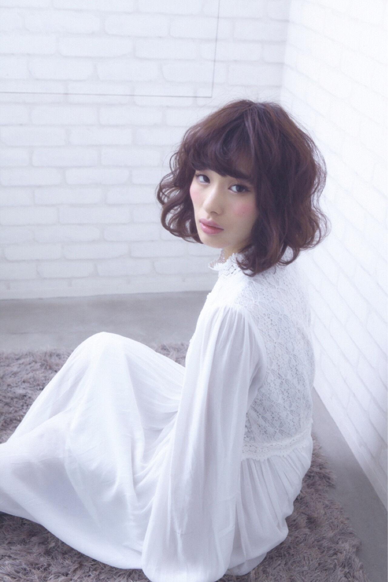 ハイライト ボブ ショート 渋谷系ヘアスタイルや髪型の写真・画像