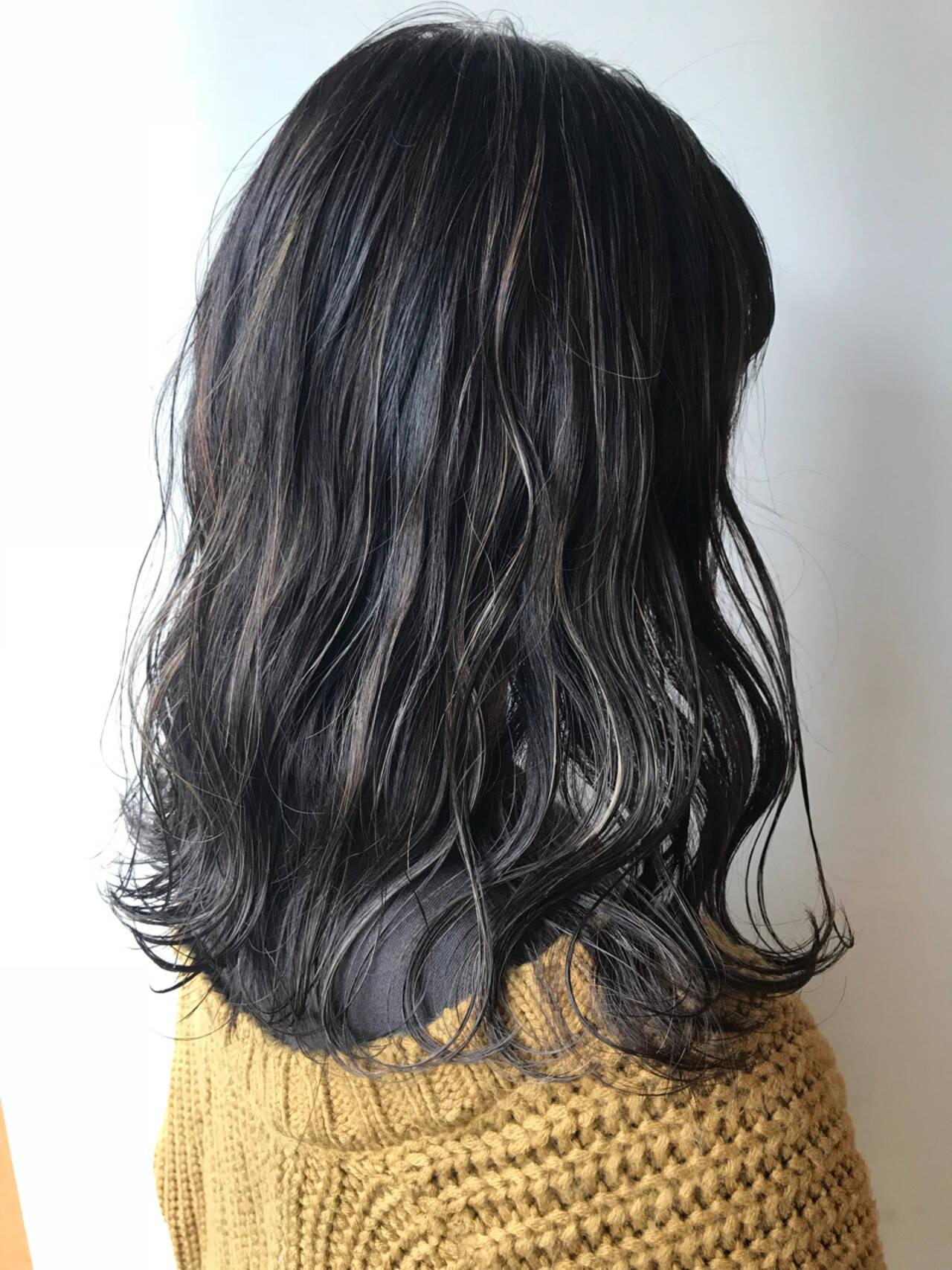 大人かわいい ハイライト ゆるふわ 女子力ヘアスタイルや髪型の写真・画像