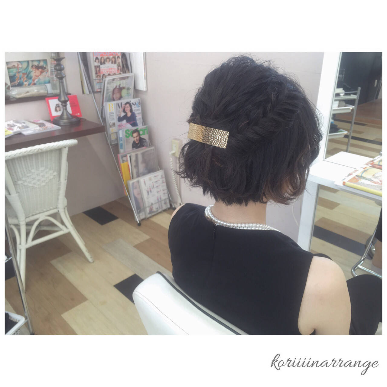 ヘアアレンジ パーティ ボブ 結婚式ヘアスタイルや髪型の写真・画像