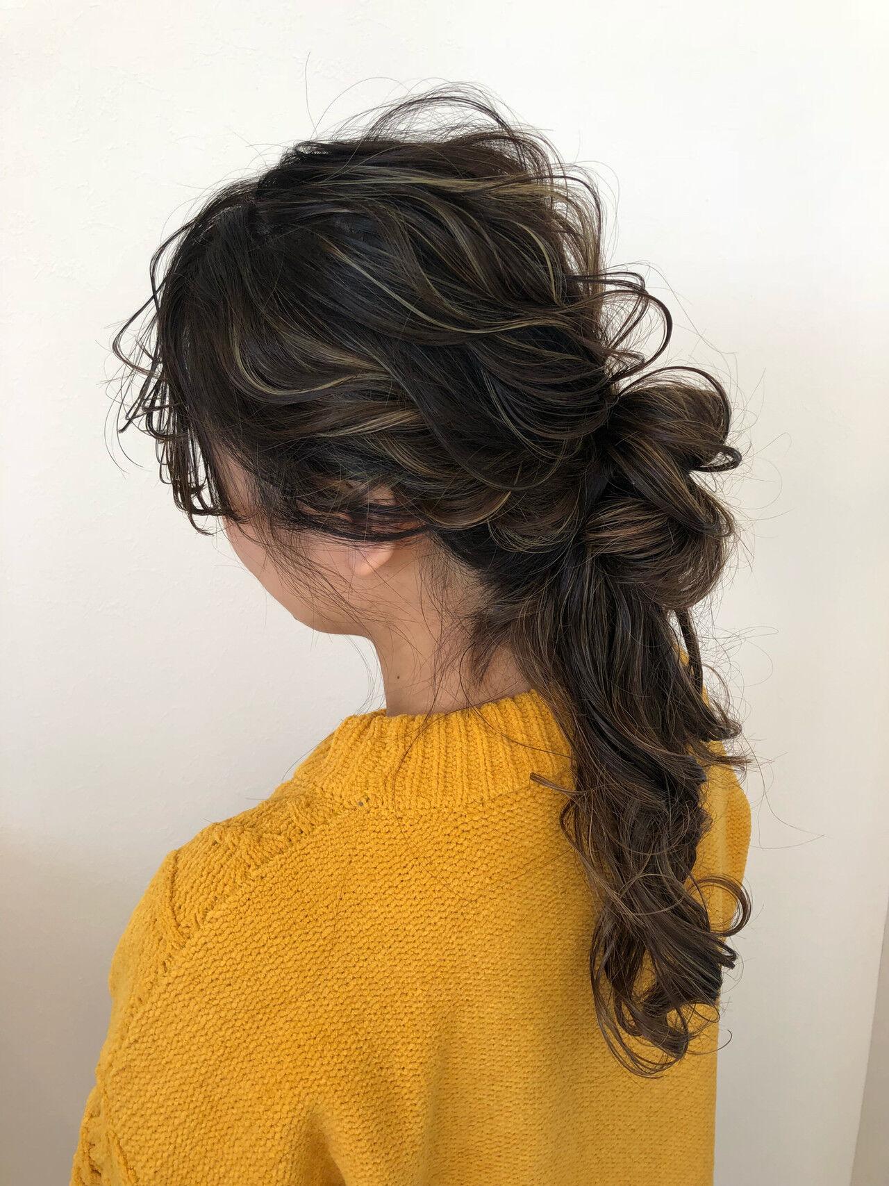 ナチュラル ロング ハーフアップ ヘアアレンジヘアスタイルや髪型の写真・画像
