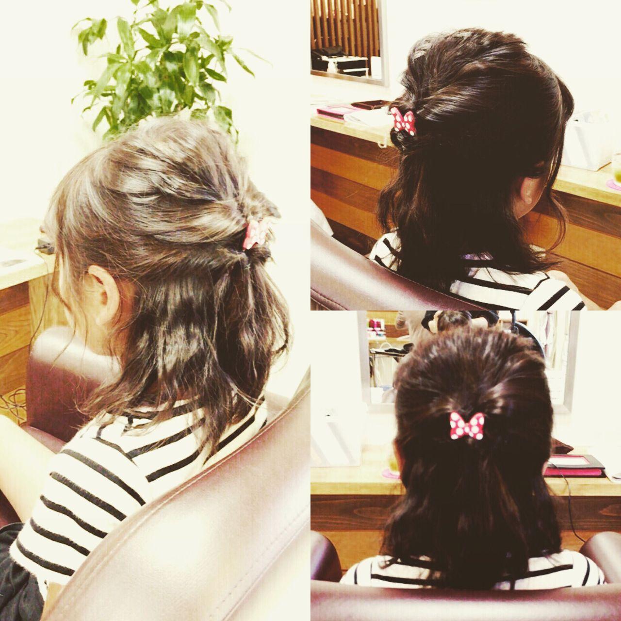 ヘアアレンジ ハーフアップ 簡単ヘアアレンジ ガーリーヘアスタイルや髪型の写真・画像