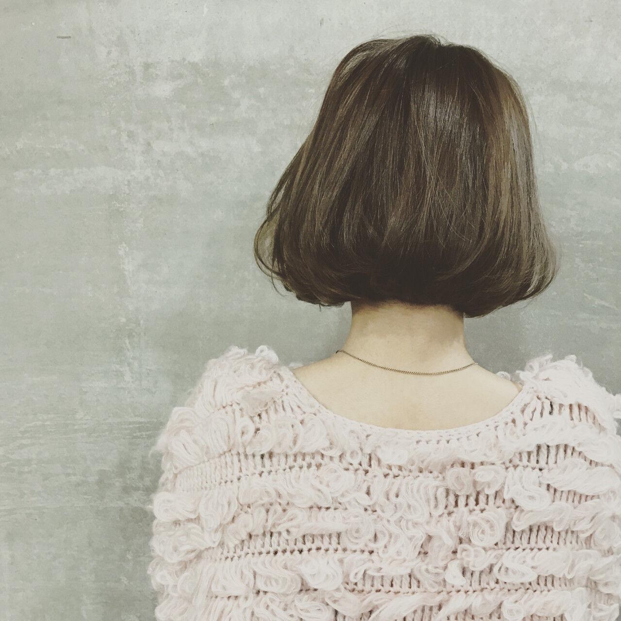 大人女子 ボブ ワンレングス ワンカールヘアスタイルや髪型の写真・画像