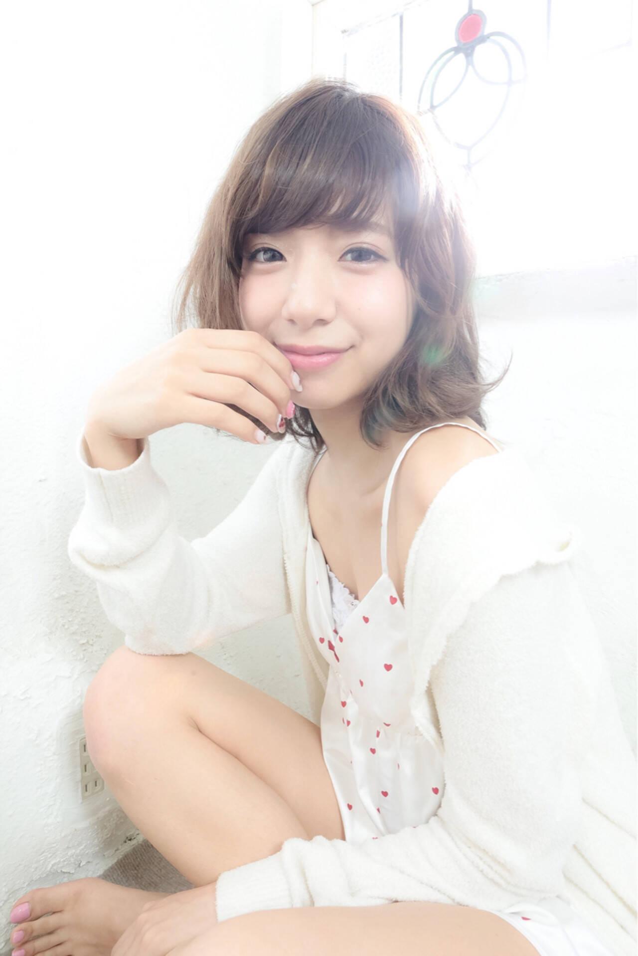 外国人風 大人かわいい フェミニン ゆるふわヘアスタイルや髪型の写真・画像