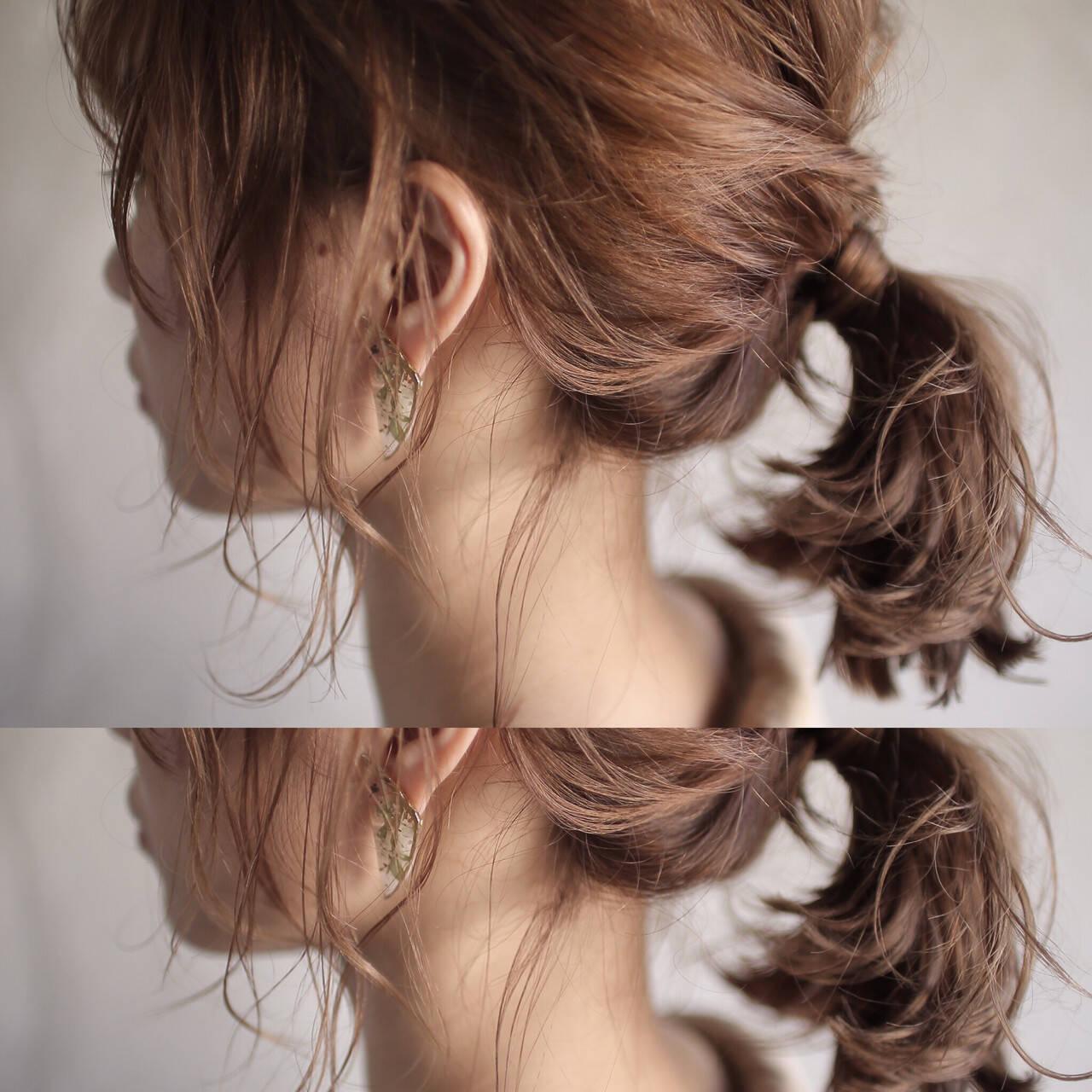 ヘアアレンジ ナチュラル ゆるふわ アンニュイヘアスタイルや髪型の写真・画像