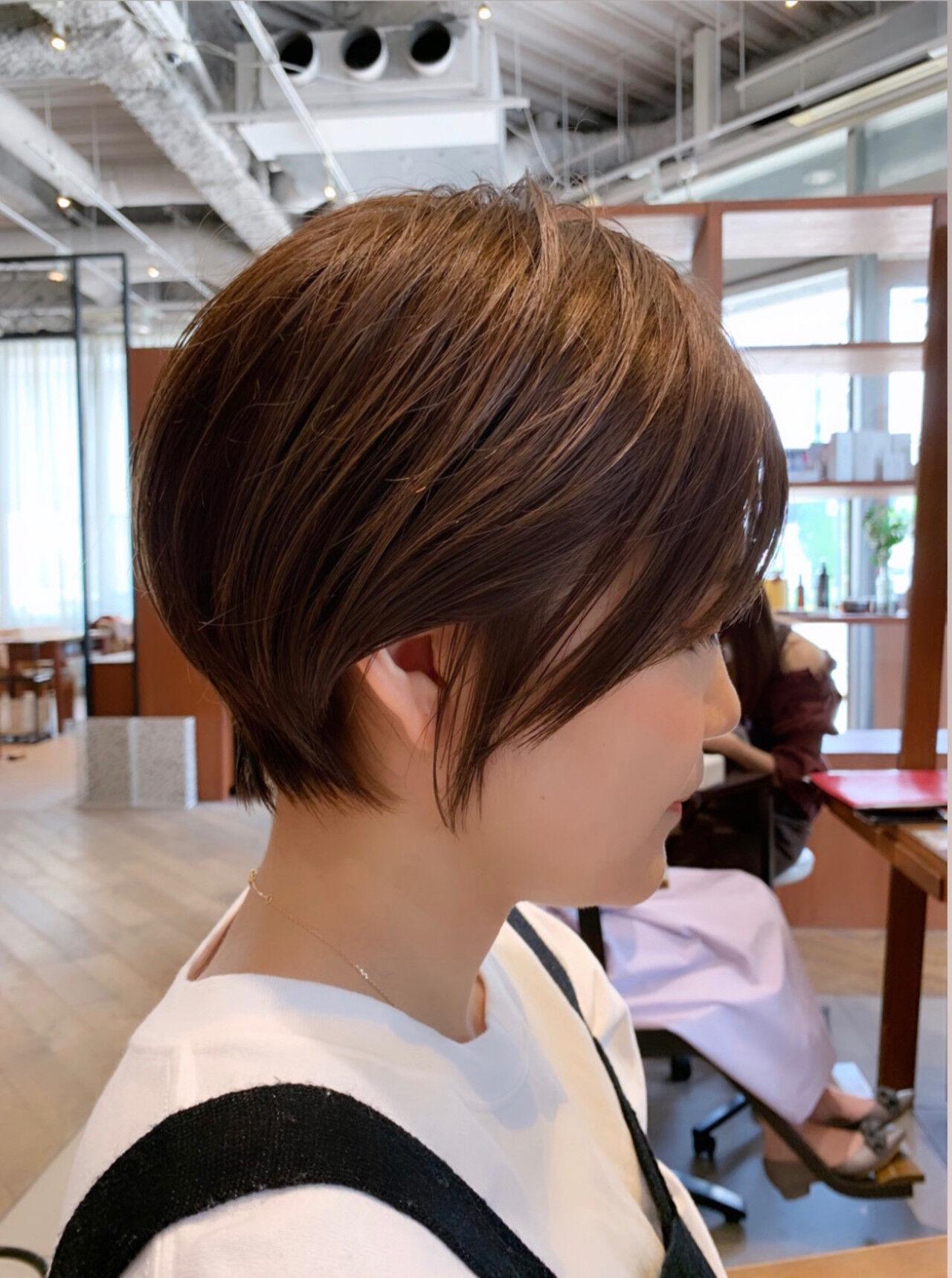 ショート ナチュラル ショートヘア デートヘアスタイルや髪型の写真・画像