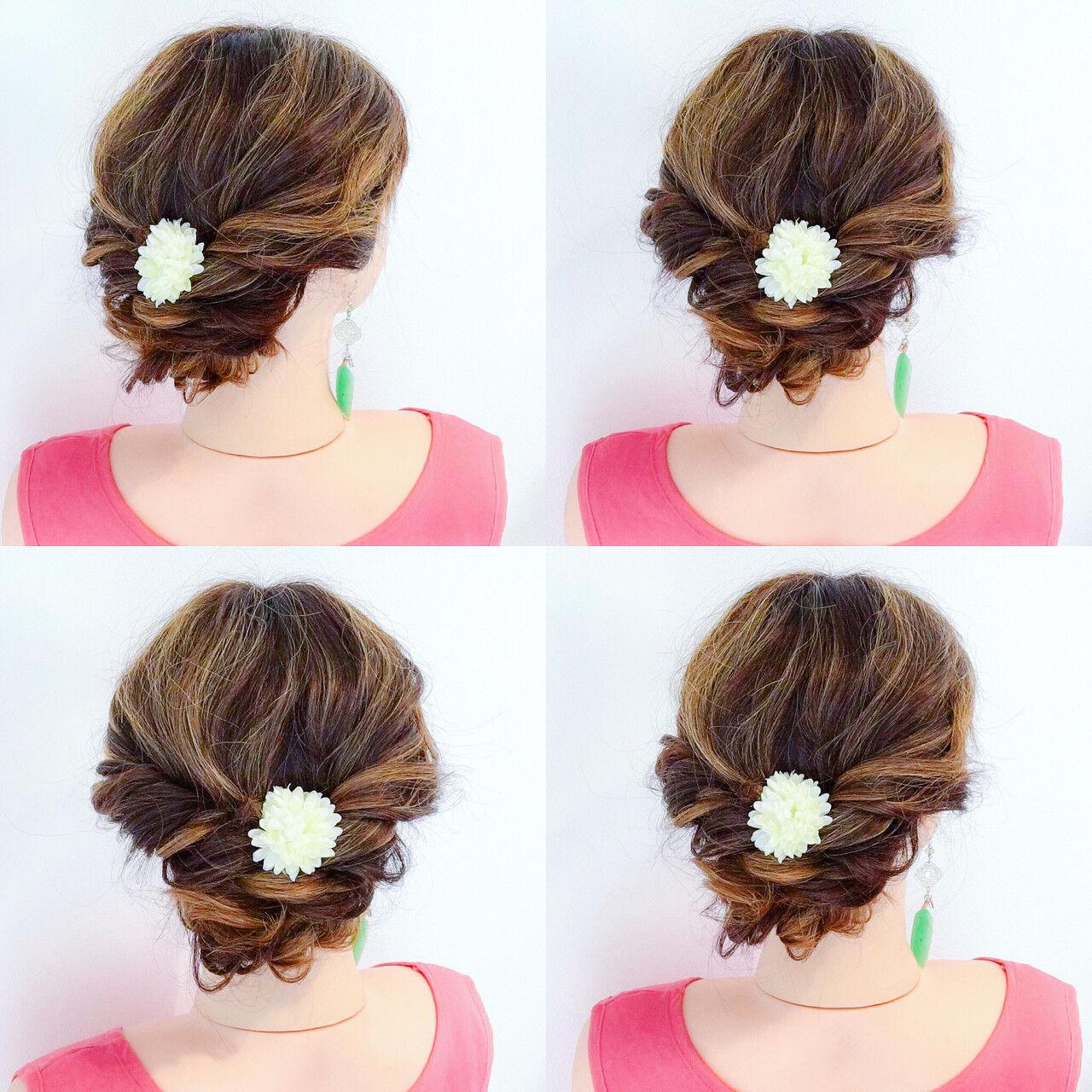 色気 夏 お祭り フェミニンヘアスタイルや髪型の写真・画像