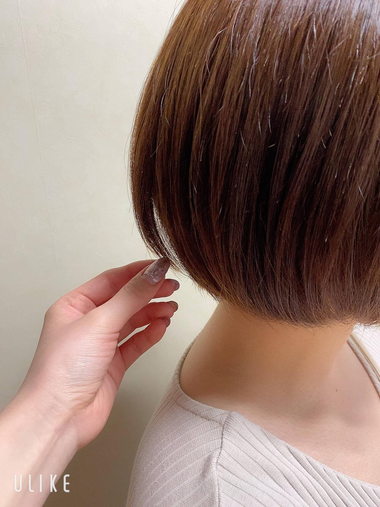 ミニボブ ボブ ショートボブ 切りっぱなしボブヘアスタイルや髪型の写真・画像
