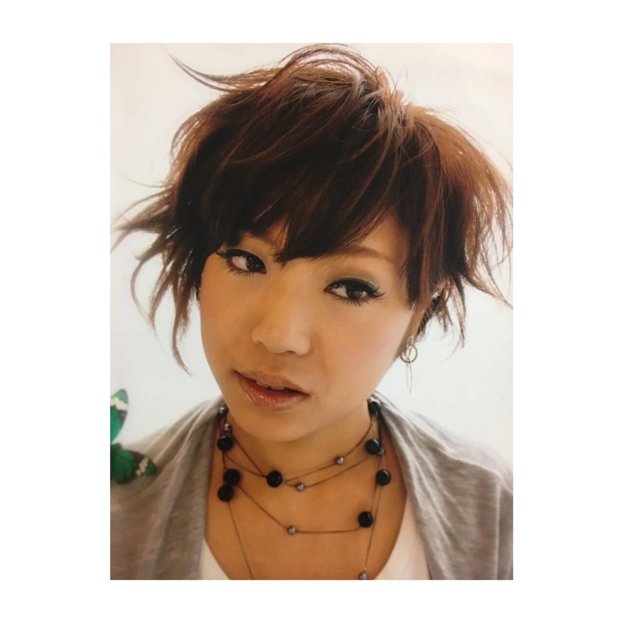 ショート ハイライト かっこいい ストリートヘアスタイルや髪型の写真・画像