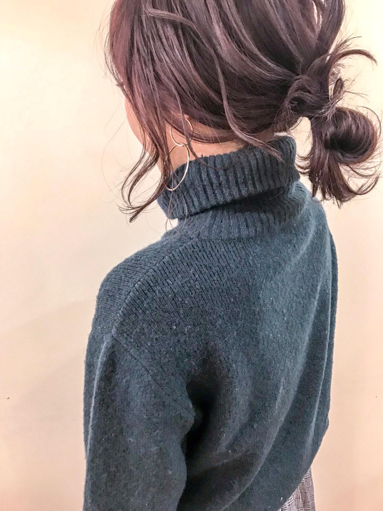 ゆるふわ ブリーチ ミディアム 簡単ヘアアレンジヘアスタイルや髪型の写真・画像