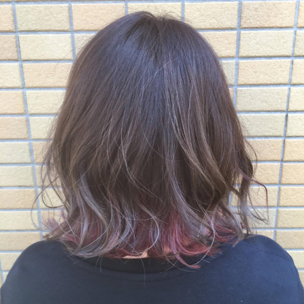 ストリート ボブ ギャル 外国人風フェミニンヘアスタイルや髪型の写真・画像