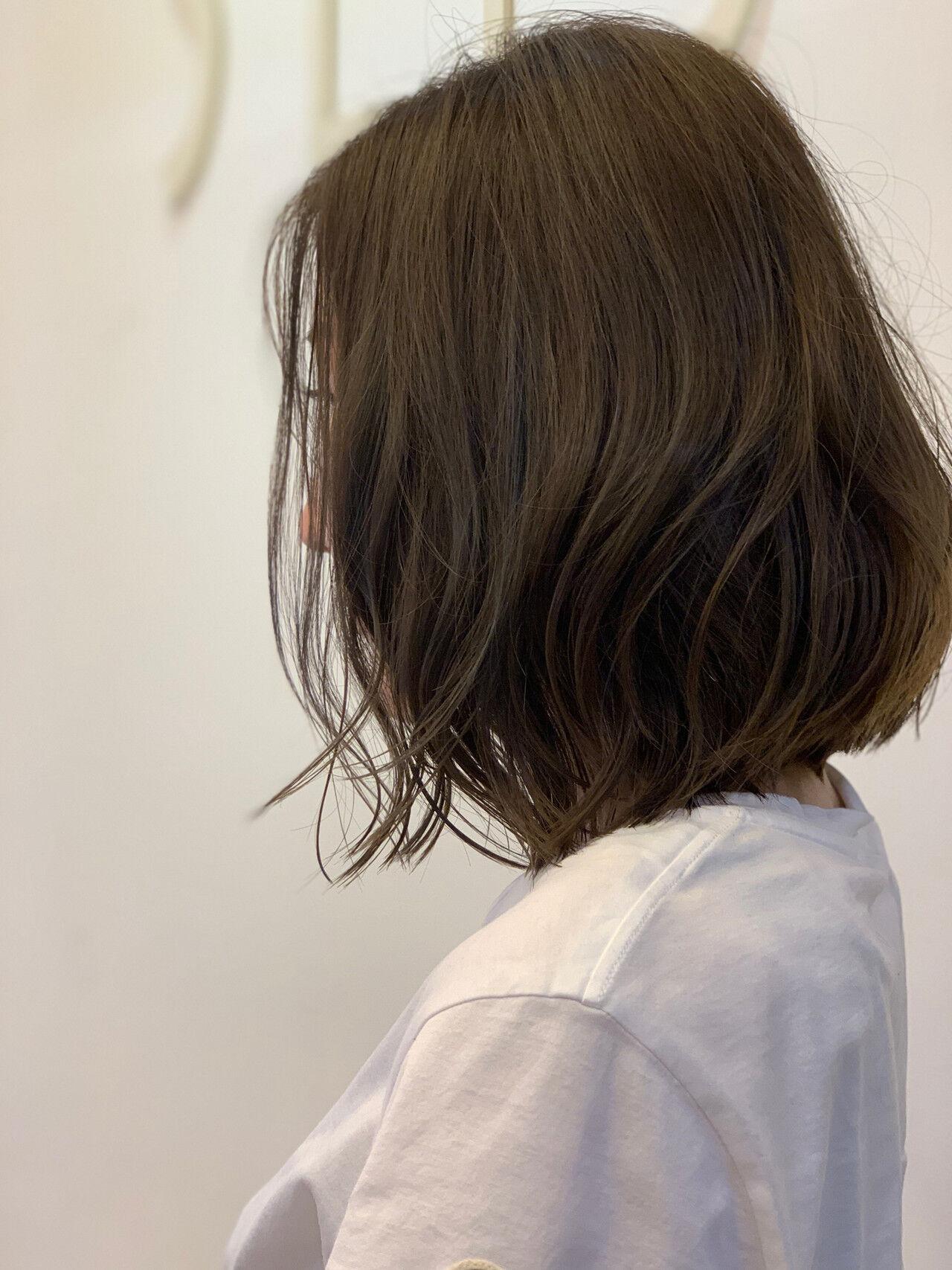 デート ボブ 外国人風カラー ヘアアレンジヘアスタイルや髪型の写真・画像