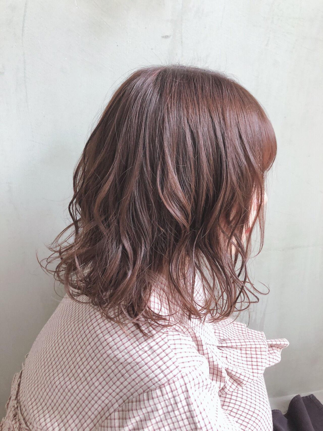 ミディアム  パーマ デートヘアスタイルや髪型の写真・画像