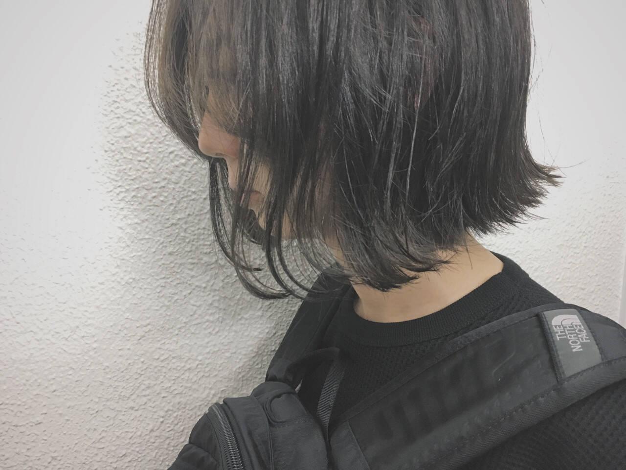 色気 暗髪 グラデーションカラー ハイライトヘアスタイルや髪型の写真・画像