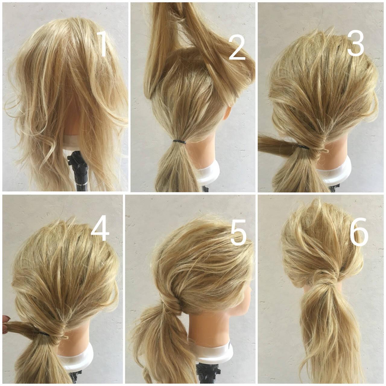 ゆるふわ 簡単ヘアアレンジ ロング 外国人風ヘアスタイルや髪型の写真・画像
