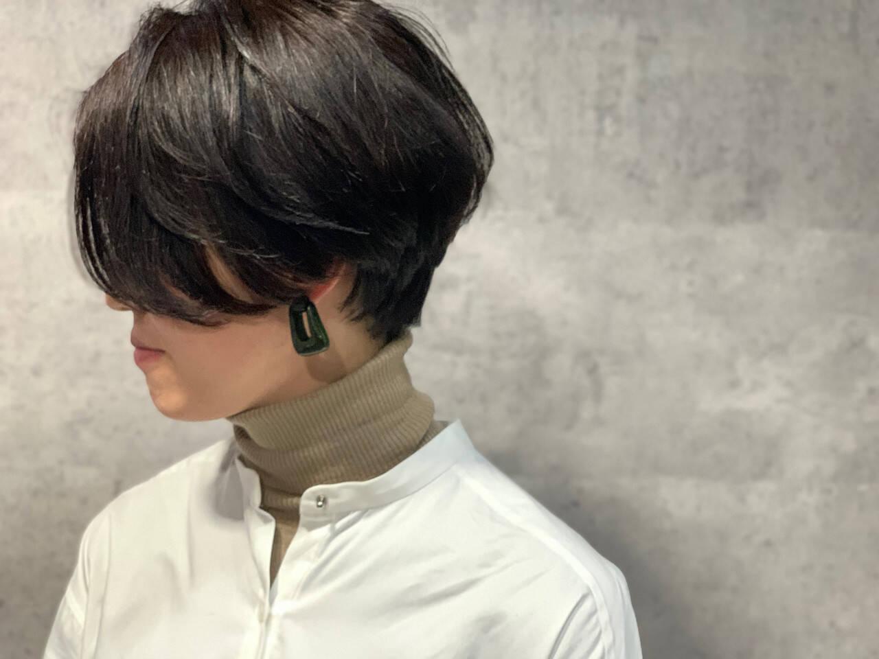 ハンサムショート ショートヘア ショート モードヘアスタイルや髪型の写真・画像