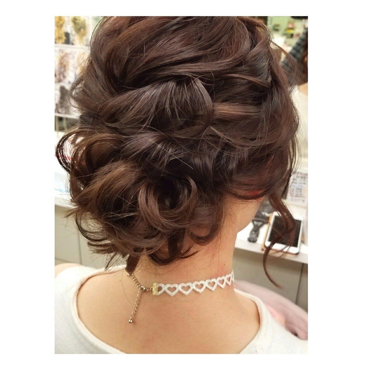 結婚式 ミディアム 謝恩会 デートヘアスタイルや髪型の写真・画像