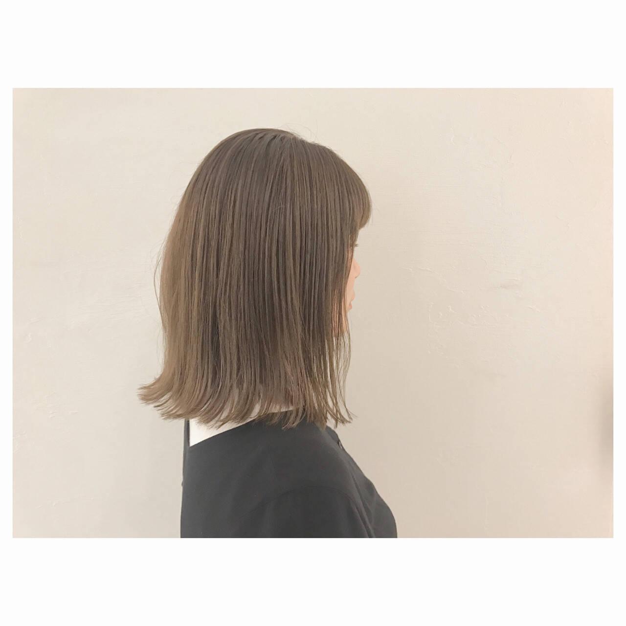 イルミナカラー ミディアム リラックス ロブヘアスタイルや髪型の写真・画像