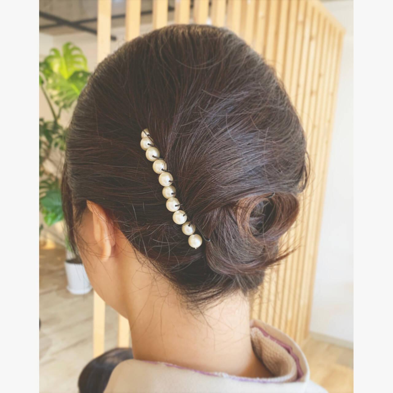 エレガント ヘアアレンジ 和装髪型 和装ヘアヘアスタイルや髪型の写真・画像