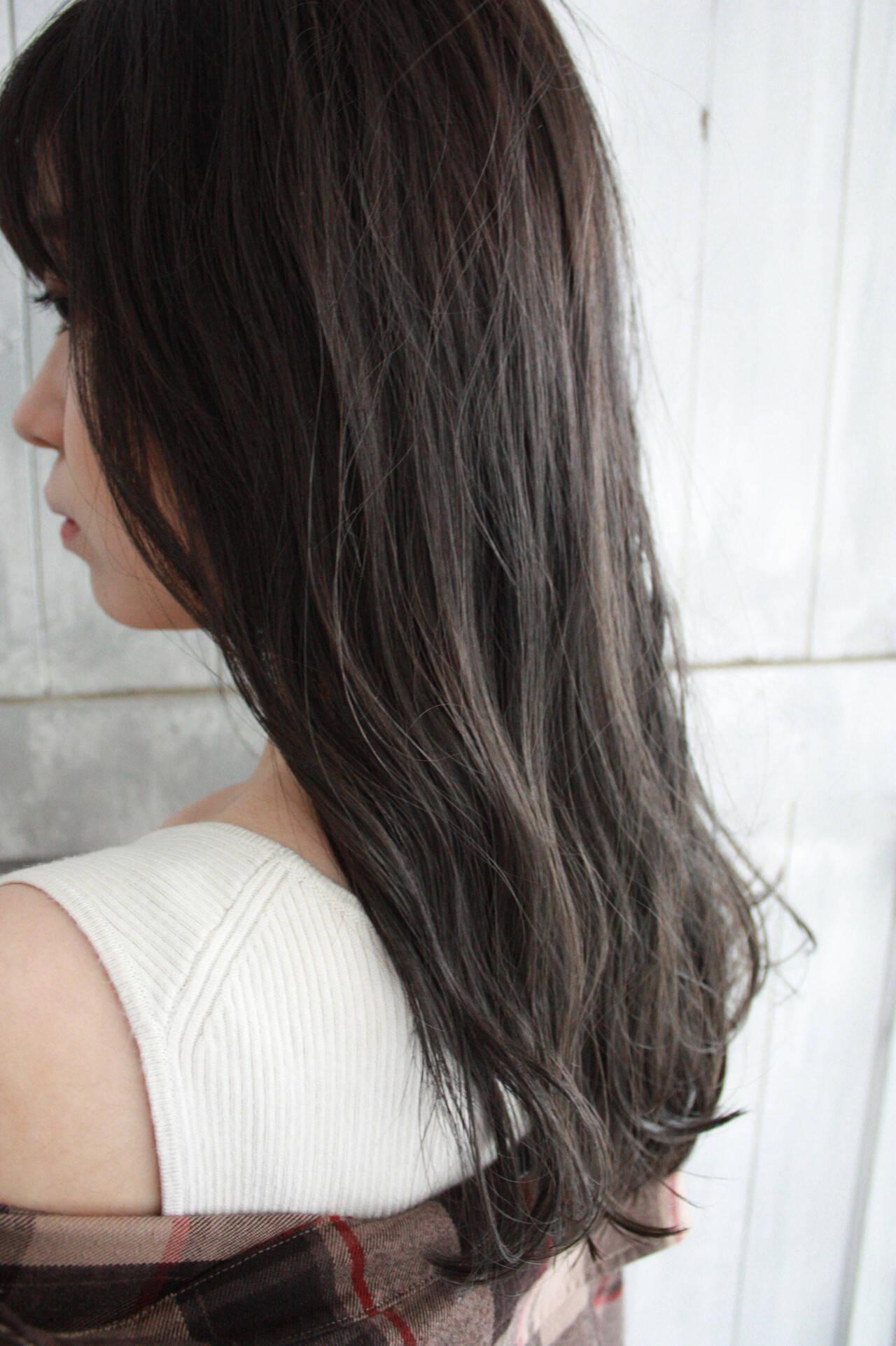 ロング 透明感カラー 圧倒的透明感 大人女子ヘアスタイルや髪型の写真・画像