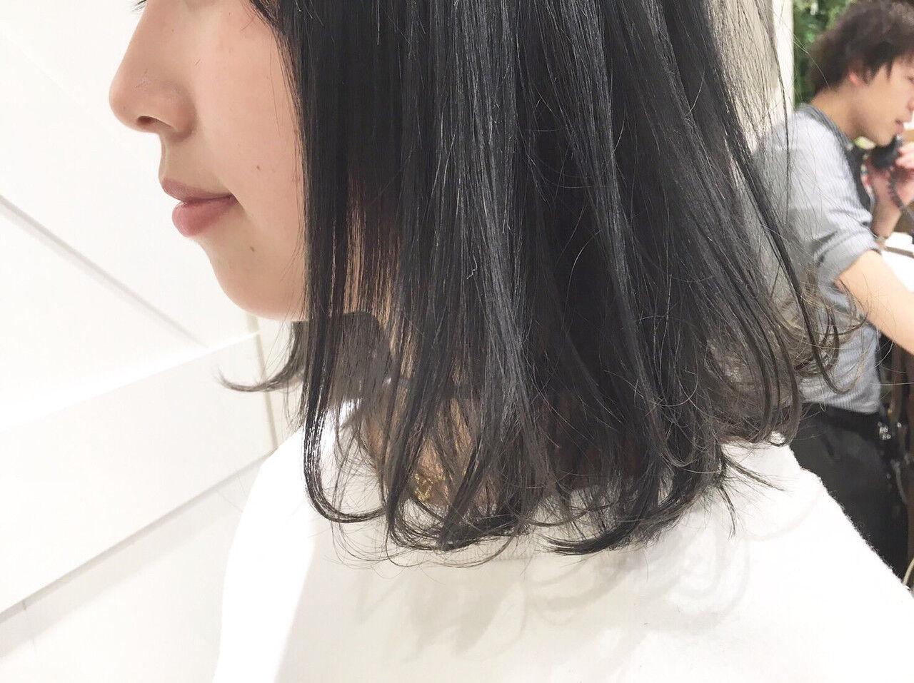 ボブ モード 暗髪 黒髪ヘアスタイルや髪型の写真・画像