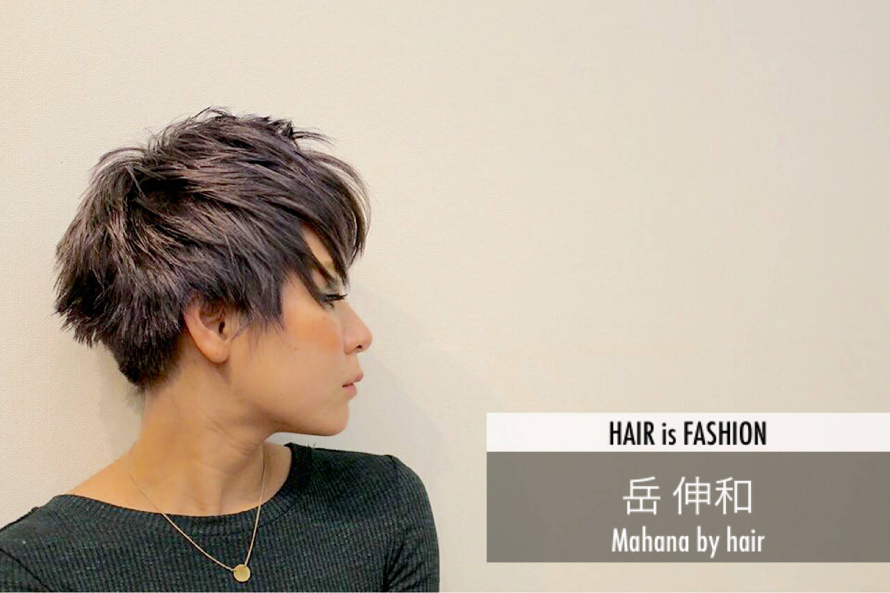 大人かわいい モード ベリーショート マッシュヘアスタイルや髪型の写真・画像