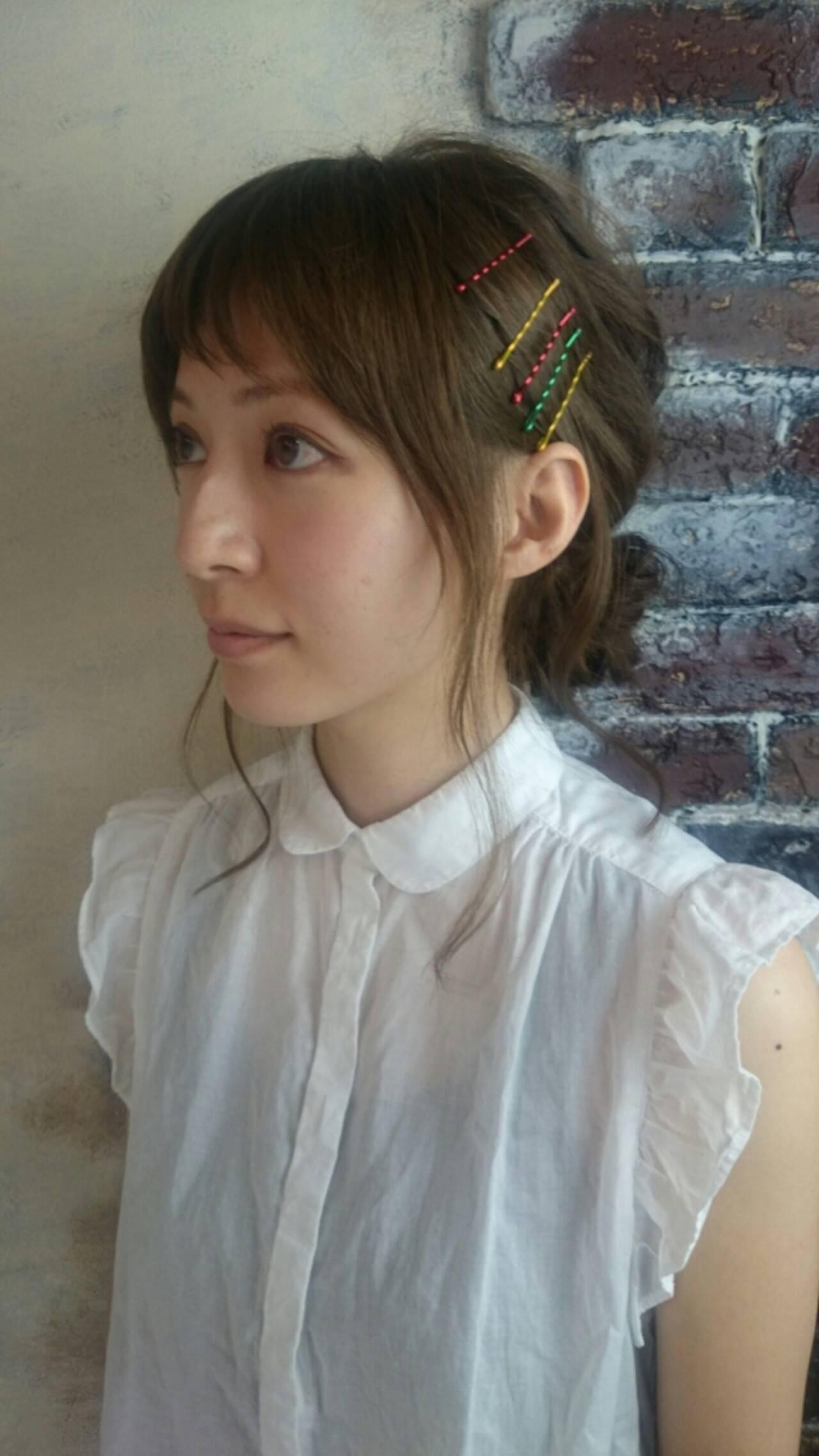 ミディアム ショート 前髪あり ガーリーヘアスタイルや髪型の写真・画像